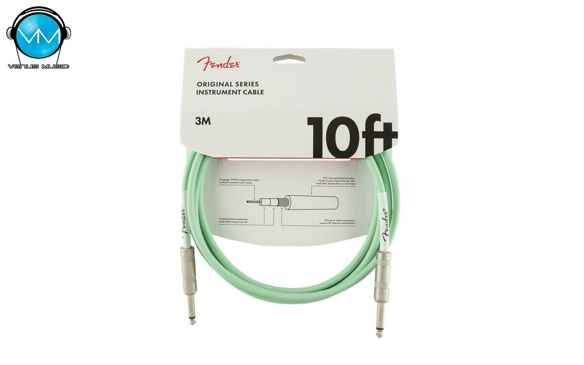 Original Series Instrument Cable, 10', Surf Green 3M 0990510058