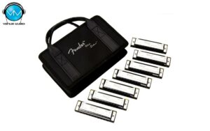 Fender Blues Deluxe Harmonica, Pack of 7, with Case  0990701049