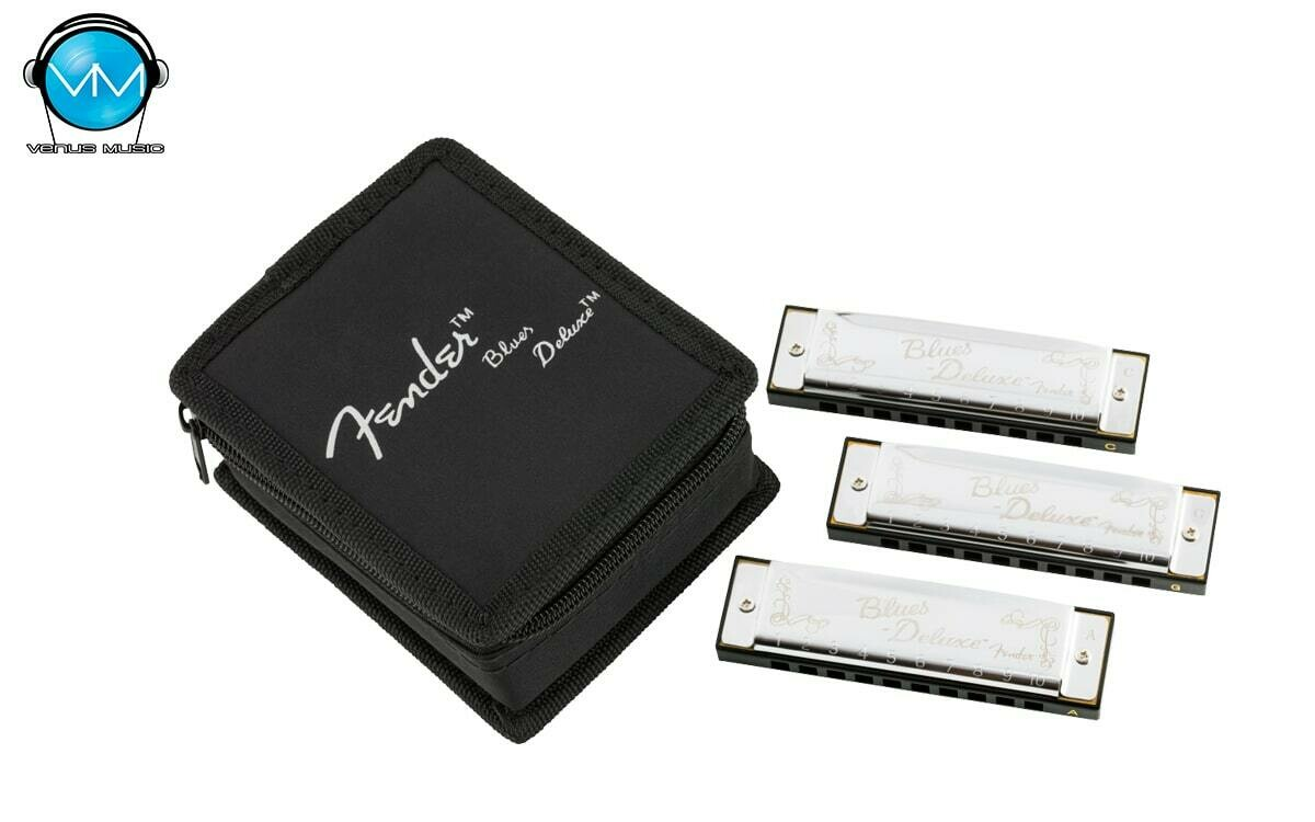 FENDER® BLUES DELUXE HARMONICAS 3-PACK WITH CASE 0990701021