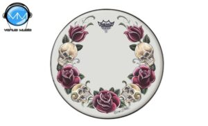 """Remo TT-0814-AX-T05 Tattoo Skyns Parche Rock and Roses 14"""""""
